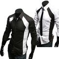 New men's Casual Luxury Stylish Slim Long Sleeve Shirts 3403