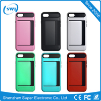 Hot new trend card slot case cover mobile phone accessories case for iphone 5s,TPU PC case for iphone 5s