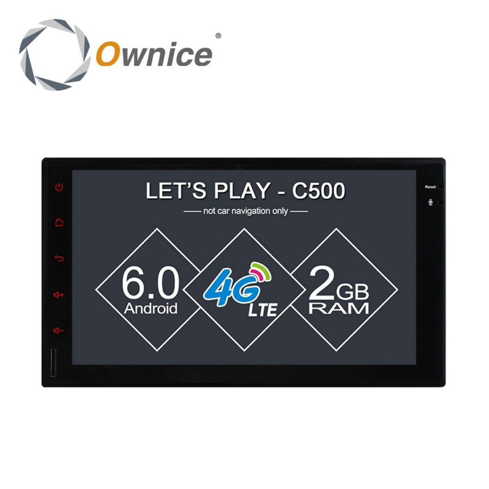 Ownice Android 6.0 Quad Core Car DVD GPS Navigation for 2din Universal support 4G LTE