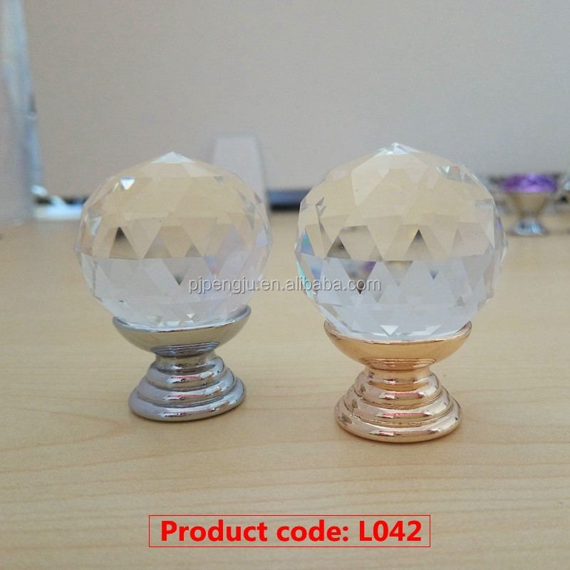 Latest styles furniture crystal ball handle & knobs