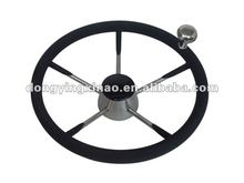 stainless steel steering wheel-W/PU foam & knob