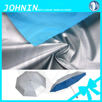 100% Polyester Taffeta fabric 210T Pu Pvc Coated Waterproof Raincoat Fabric for umbrella fabric or inflatable goods