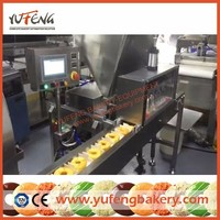 Automatic Filled Donut Cream jam Injecting Machine with Making Line