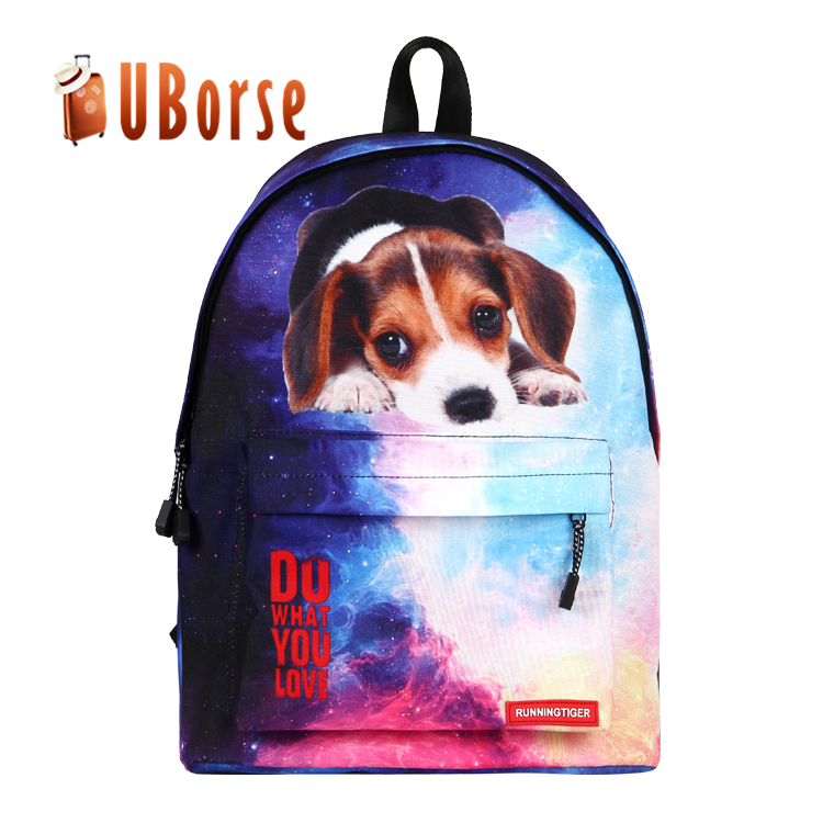 Factory Wholesale Kids Backpack Knapsack Dog Cat Animal Printing Korean Backpack Carrier Shoulder Bag