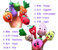 Fruits vegetables Parent-child games Plush toys Finger puppets baby toy