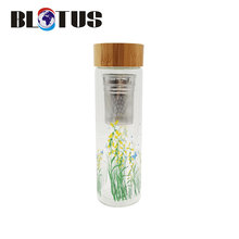 High quality custom color logo drink glass water bottle