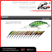 BUNNY Artificial wobbler Hard fishing lures OSP laser minnow fishing lure