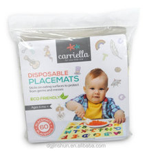 Thicker plastic Biodegrable Eating Eco-friendly Disposable Baby Placemats for Kids