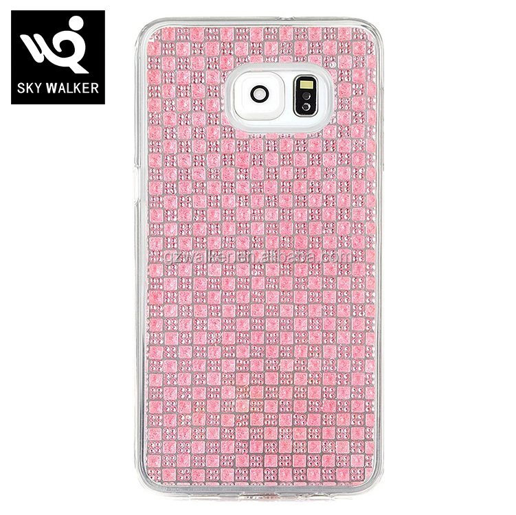 Colorful Studded With Diamond Soft TPU Back Cover Plastic Phone Case For Samsung galaxy note7