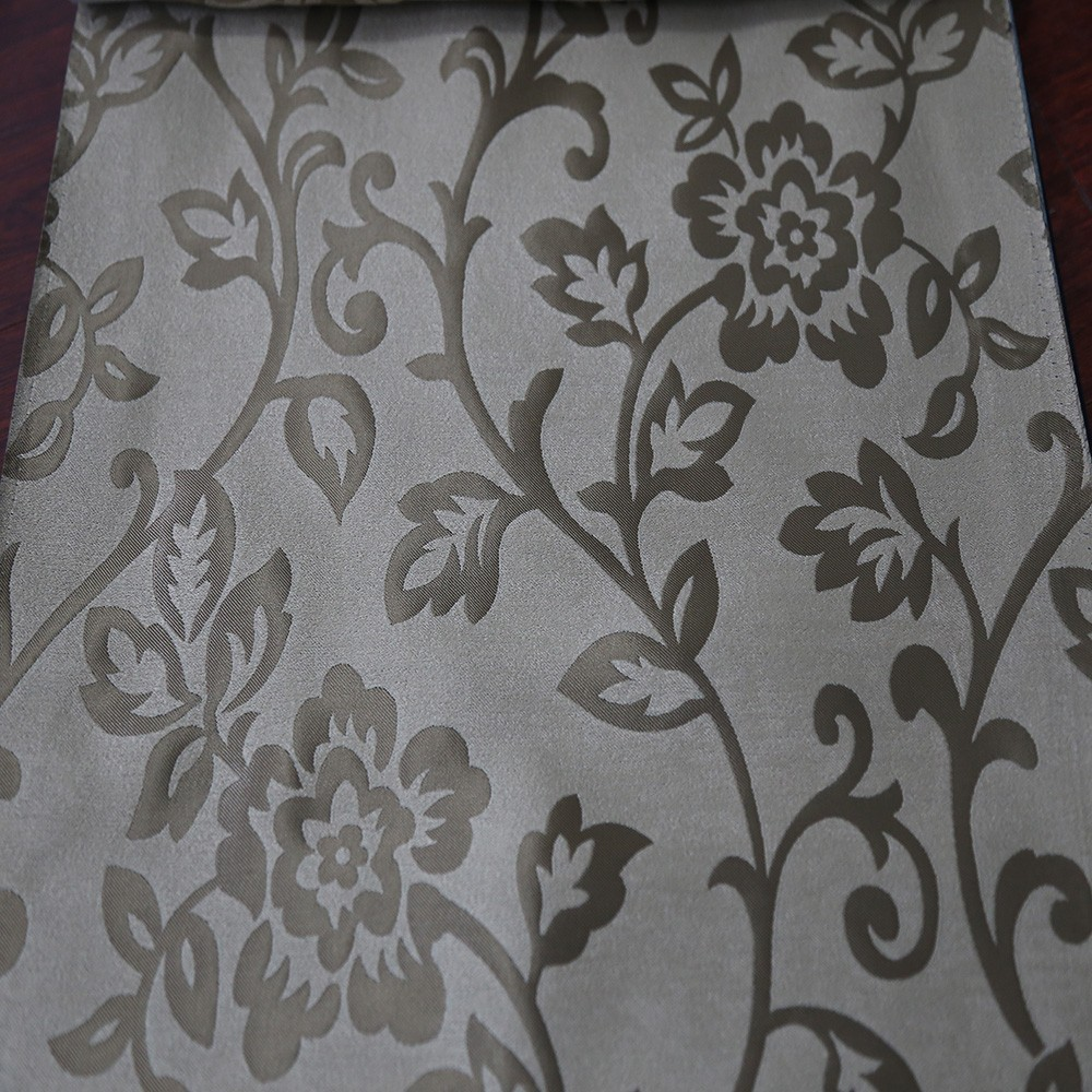 Free sample kids bedroom jacquard 100% blackout curtain fabric