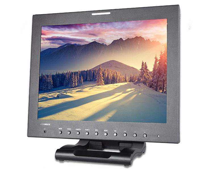 Hot sale Peaking Image freeze professional square lcd monitor 15 inch with hdmi sdi for Brocast equipment