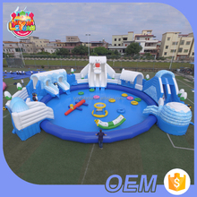 Factory Wholesale Price Cheap Ice World Amusement Park Equipment Aqua Inflatable Water Park With Pool For Sale