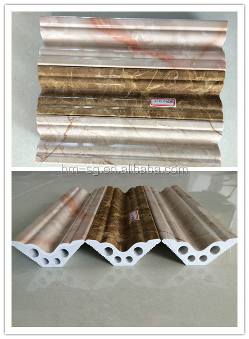 pvc marble skirting and panel for home decoration