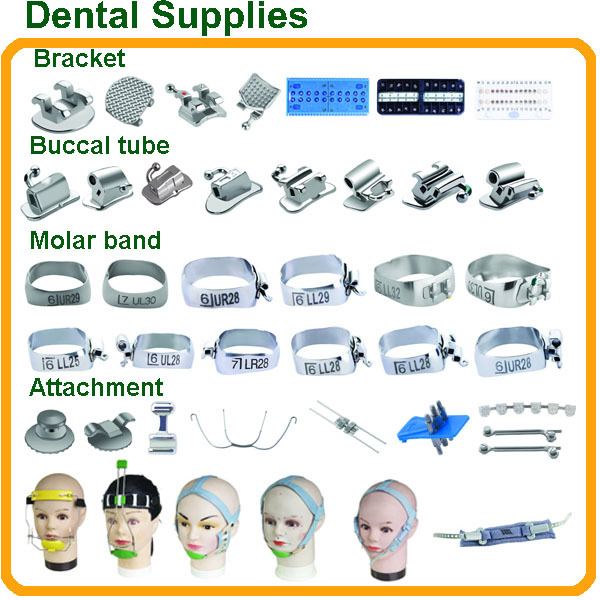 Orthodontic Braces Kit /Orthodontic Brackets Buccal Tubes Molar Bands Pliers / Dental Braces