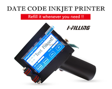 Portable Expiry Date Continue Handheld Inkjet Code Printer industrial inkjet coding printer inkjet batch code printer