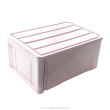 High quality 64L plastic drawer storage box costume closet decorative storage boxes stackable storage container