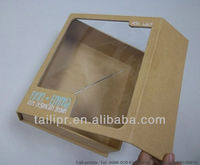 window foldable kraft paper gift packaging box, rigid folding packaging box, TLP13122706
