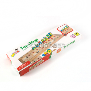 Wooden Game Educational Toy Set Counting Wood Board