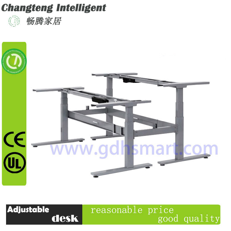 L-shaped Height adjustable office desk frame&3 legs electric height adjustable table frame&table frames and legs