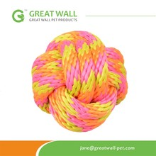 2015 NEW Colored Braided PP Rope Ball <strong>Pet</strong> toys for dog <strong>training</strong>