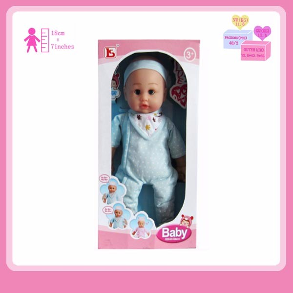 2019 New Design 16 Inch Lovely Cotton Baby Doll with 4 Sounds IC