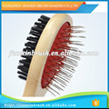 excellent quality fashional shape professional wooden hair pet brush