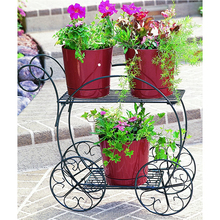garden decoration Vintage 2 Tiered Garden Cart metal plant stand