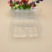 Clear Plastic fruit container disposable PP plastic food box with hinged lid