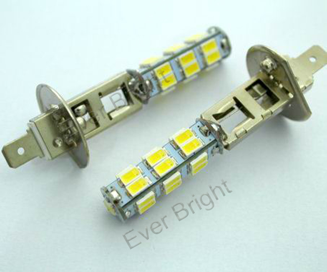 H1 5630 25SMD Super Bright Led Fog Light Head Lamps 1360,h1 h3 SMD car fog lights