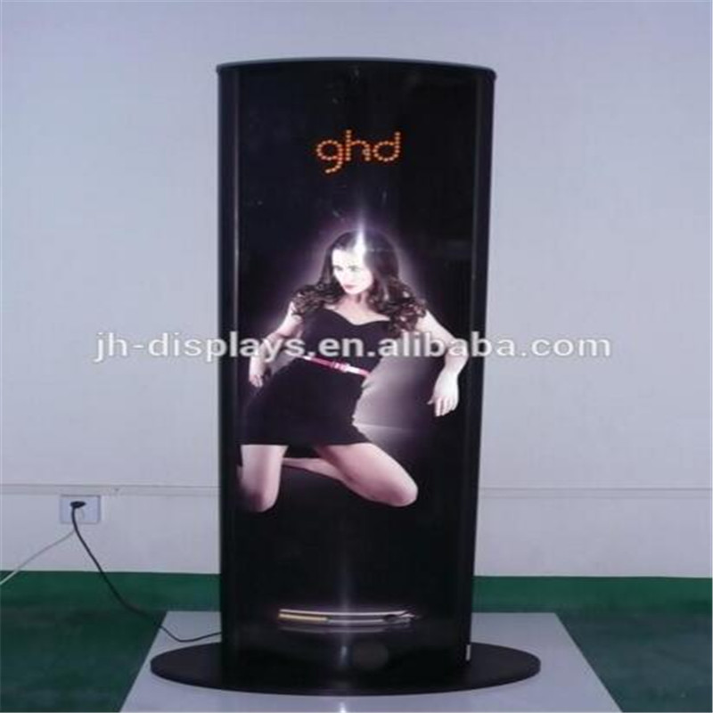 Led Floor Light Box Double Sided Poster Display Stands