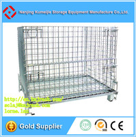 Welded Collapsible Stainless Steel Wire Storage Cage