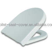 Soft close duroplast metal hinges D shape toilet seat cover for wall hanging toilet