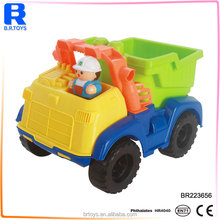 Funny cheap plastic truck intelligent kids beach toys