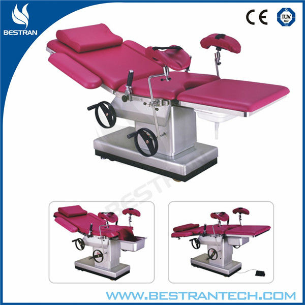 BT-OE004 hospital birthing bed, manual and electric hydraulic gyno bed