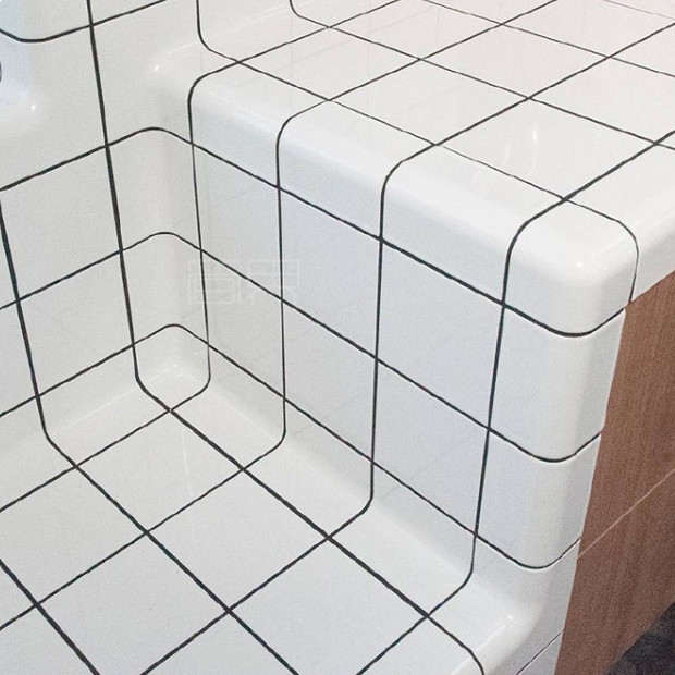 Lightweight Wall Tiles White Tile Curved <strong>Ceramic</strong>