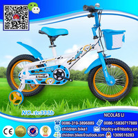 CHINA Factory direct wholesale children bicycle with basket online blue frame child bike