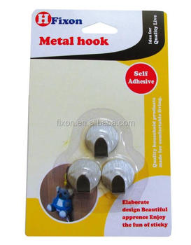 stainless metal hook square and medium