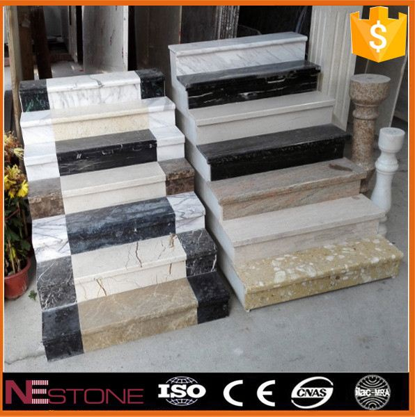 Wholesale natural stone flamed honed polished Granite steps stairs