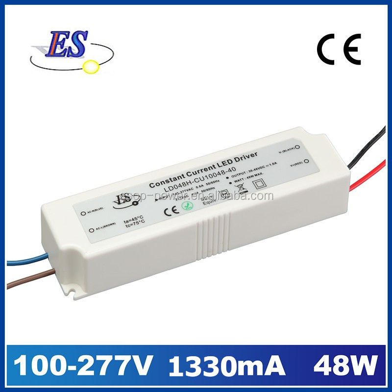 48W 1330mA 220V to 36V Constant Current LED Driver Power Supply