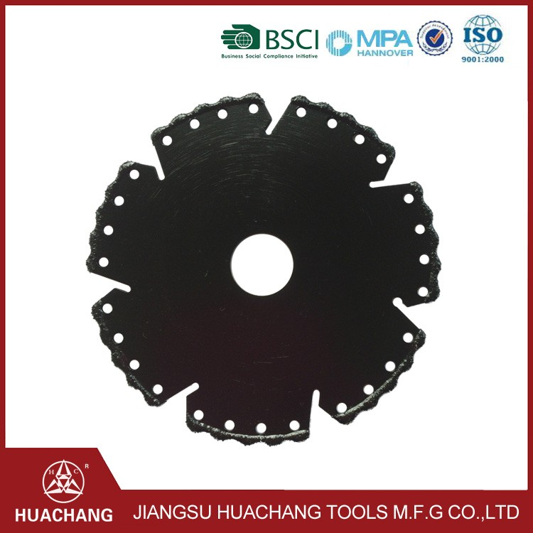 New product 2016 Vacuum brazed diamond saw blade for cutting marble