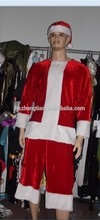 Instyles walson luxo Velour <span class=keywords><strong>terno</strong></span> de papai noel chapéu dos homens <span class=keywords><strong>pai</strong></span> <span class=keywords><strong>natal</strong></span> Fancy Dress Costume
