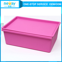 Eco-Friendly storage box plastic colorful for t Clothes/Toys/Quilt