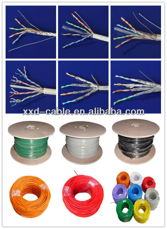 Ethernet Solid Copper High Quality 4pr 24awg F/UTP Cat6A Lan Cable
