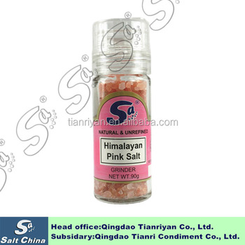 Wholesale Natural Himalayan pink salt packed into grinder bottle