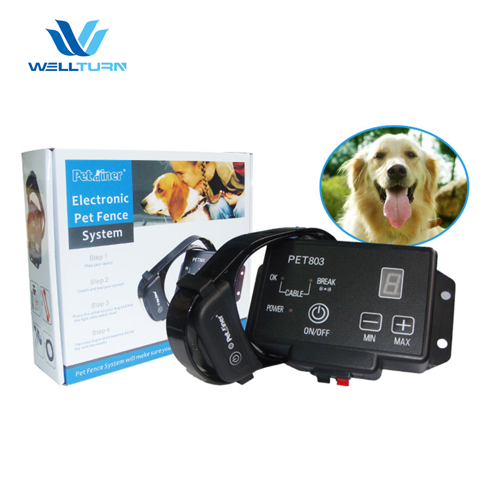 Adjustable Electronic Contemporary Dog Fence And Collars, Electric Dog Fencing System For Many Dogs
