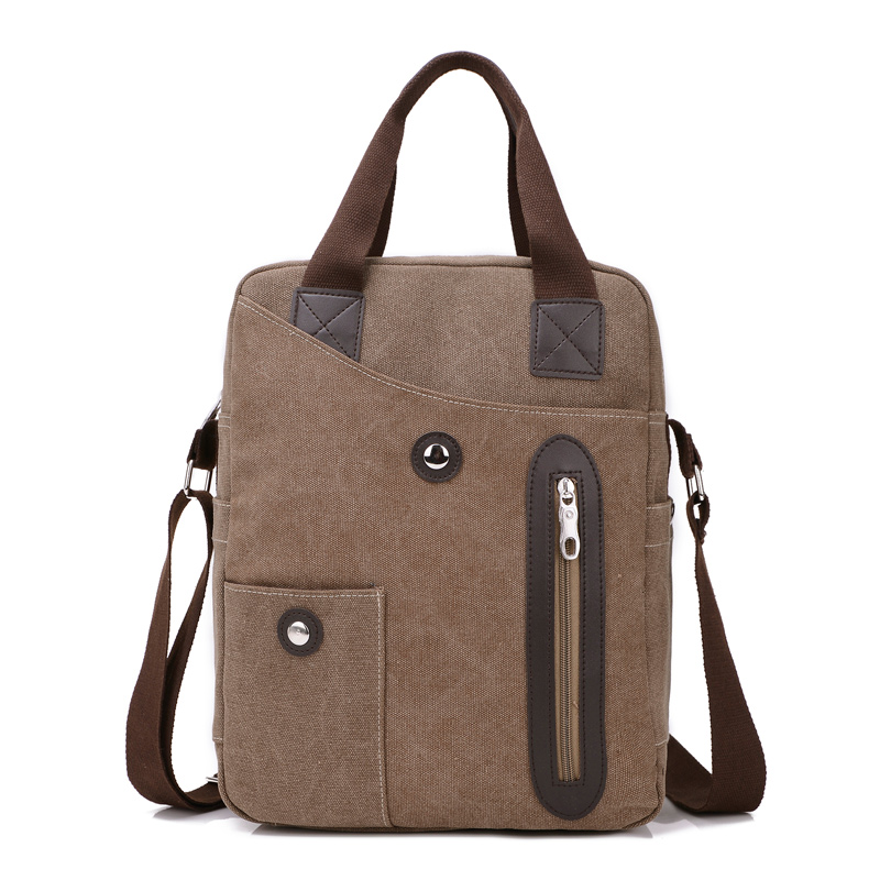 100% cotton canvas laptop handbags shoulder bag sling bag mens messenger bag