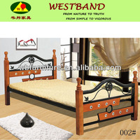 wood and mental bunk bed/ bedroom furniture/GZ furniture/bedding set