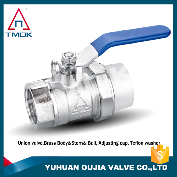 long neck brass ball valve 1 inch full port union double lockable motorize hydraulic DN 20 manual power with forged