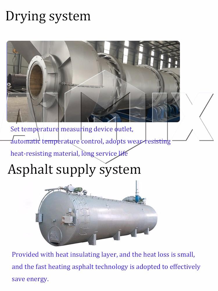 Top quality 80t/h asphalt concrete mixer with price