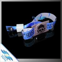 Customized cotton recycling plastic snap wristband for events